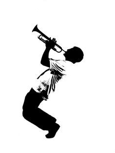 Trumpet Clipart Black And White