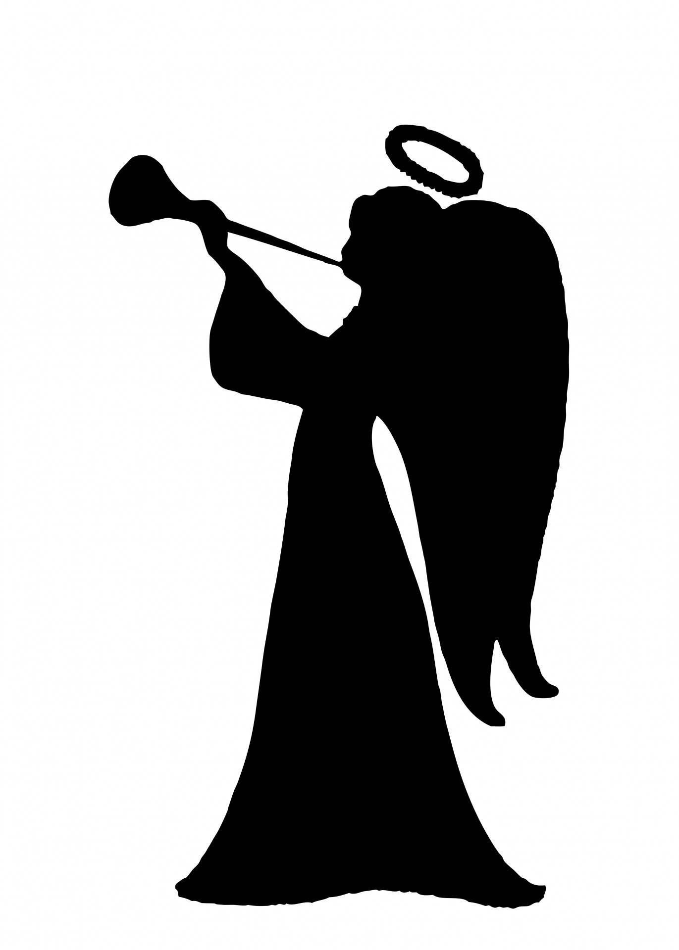 1371x1920 Angel Trumpets Clipart