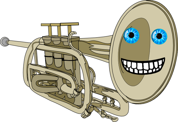 600x412 Animated Smiling Trumpet Clip Art