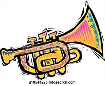 350x286 Colouful Clipart Trumpet