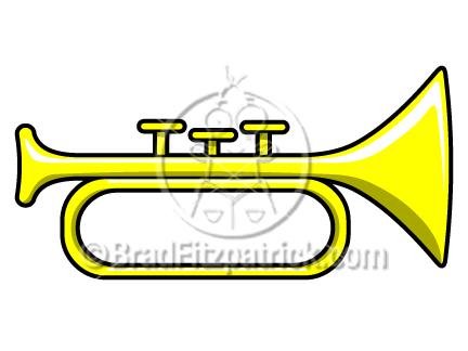 432x324 Free Trumpet Horn Art Clipart
