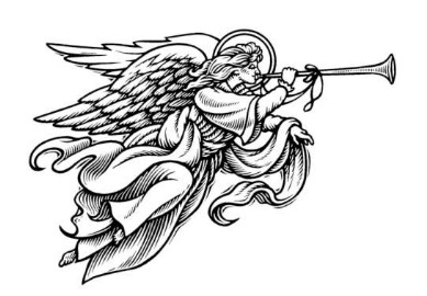 389x270 Angel With Trumpet Clipart