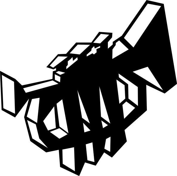 594x591 Trumpet Stylized Symbol Clip Art Free Vector In Open Office