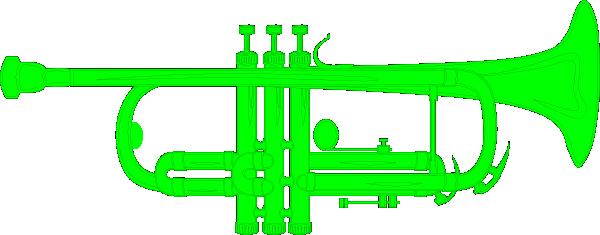 600x235 Trumpet Green Clip Art