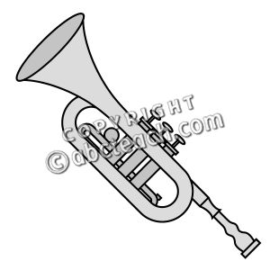 300x300 Trumpet Clip Art