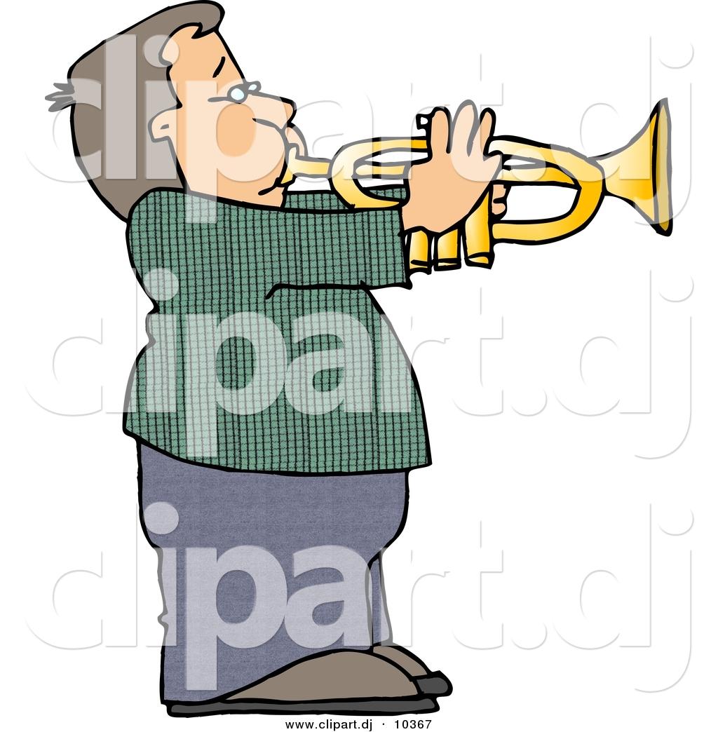 1024x1044 Clipart Of A Cartoon Boy Playing Trumpet By Djart