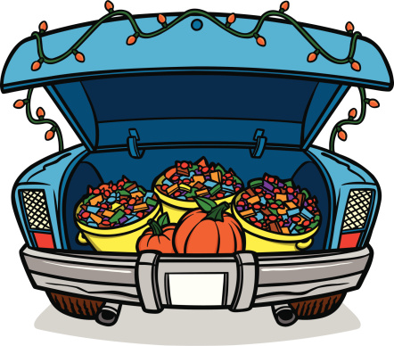 442x388 Trunk Or Treat Trunk Of A Car Clipart Clipartfest