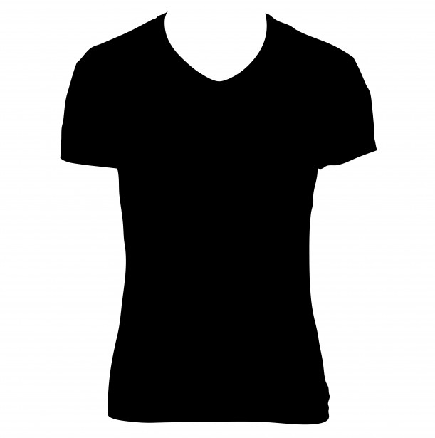611x615 Image Of Black T Shirt Clipart