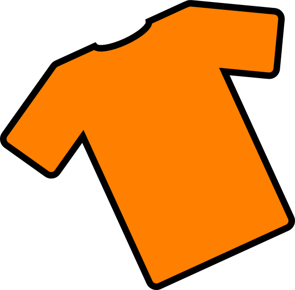 600x590 Orange T Shirt Angled Clip Art