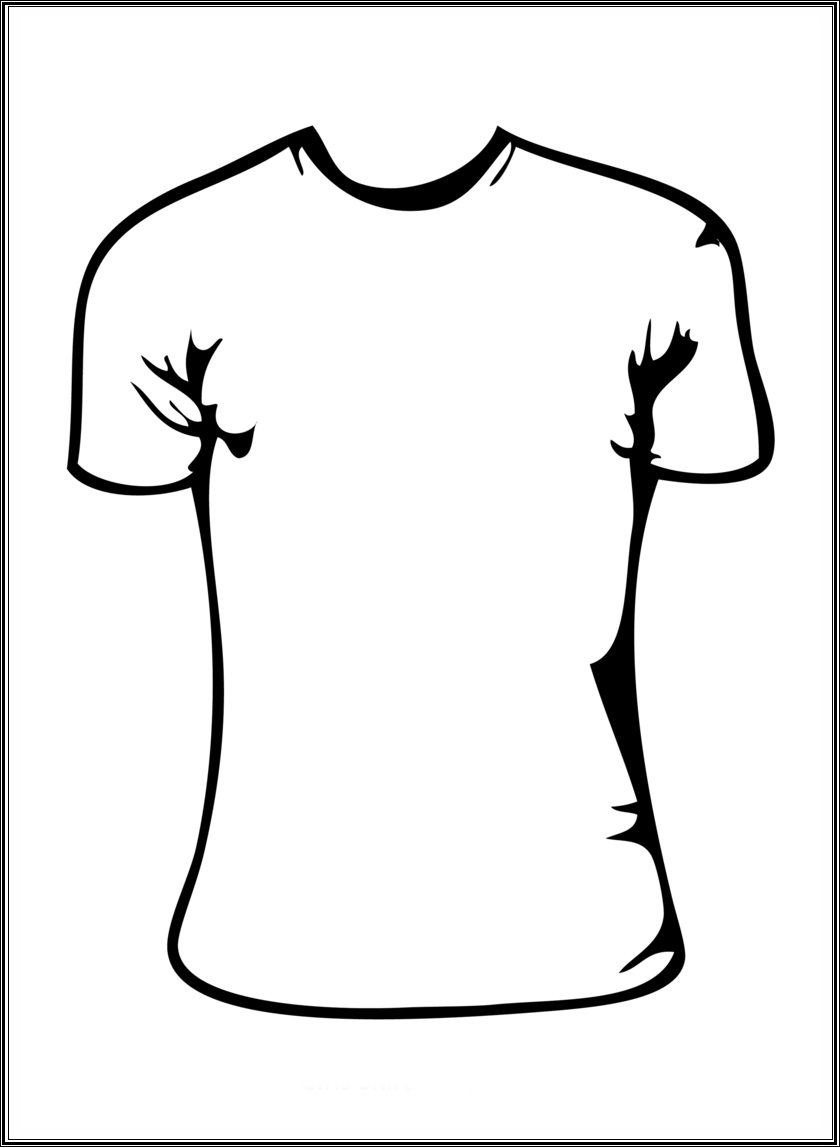 840x1147 T Shirt Black And White Clipart