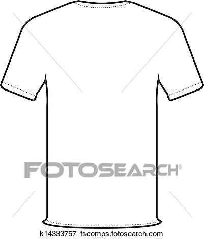 401x470 Clip Art Of Back T Shirt Vector K14333757