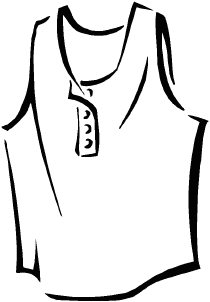 210x302 T Shirt Clipart Black And White