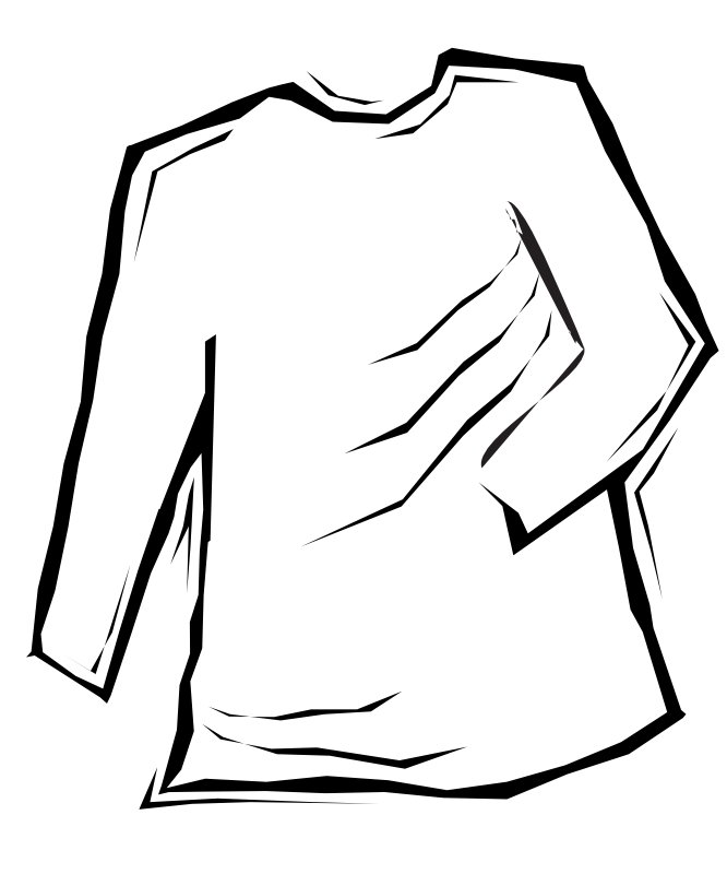 666x800 White T Shirt Clip Art