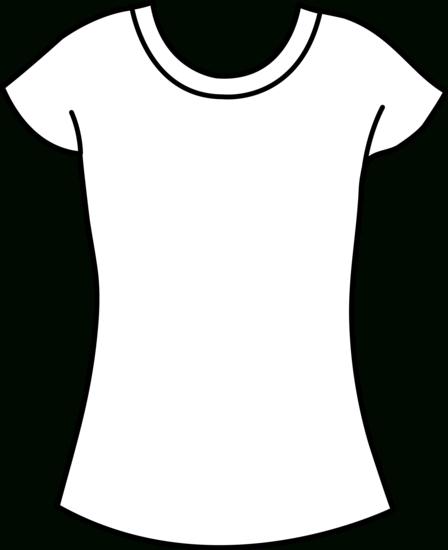 Tshirt Clipart Black And White