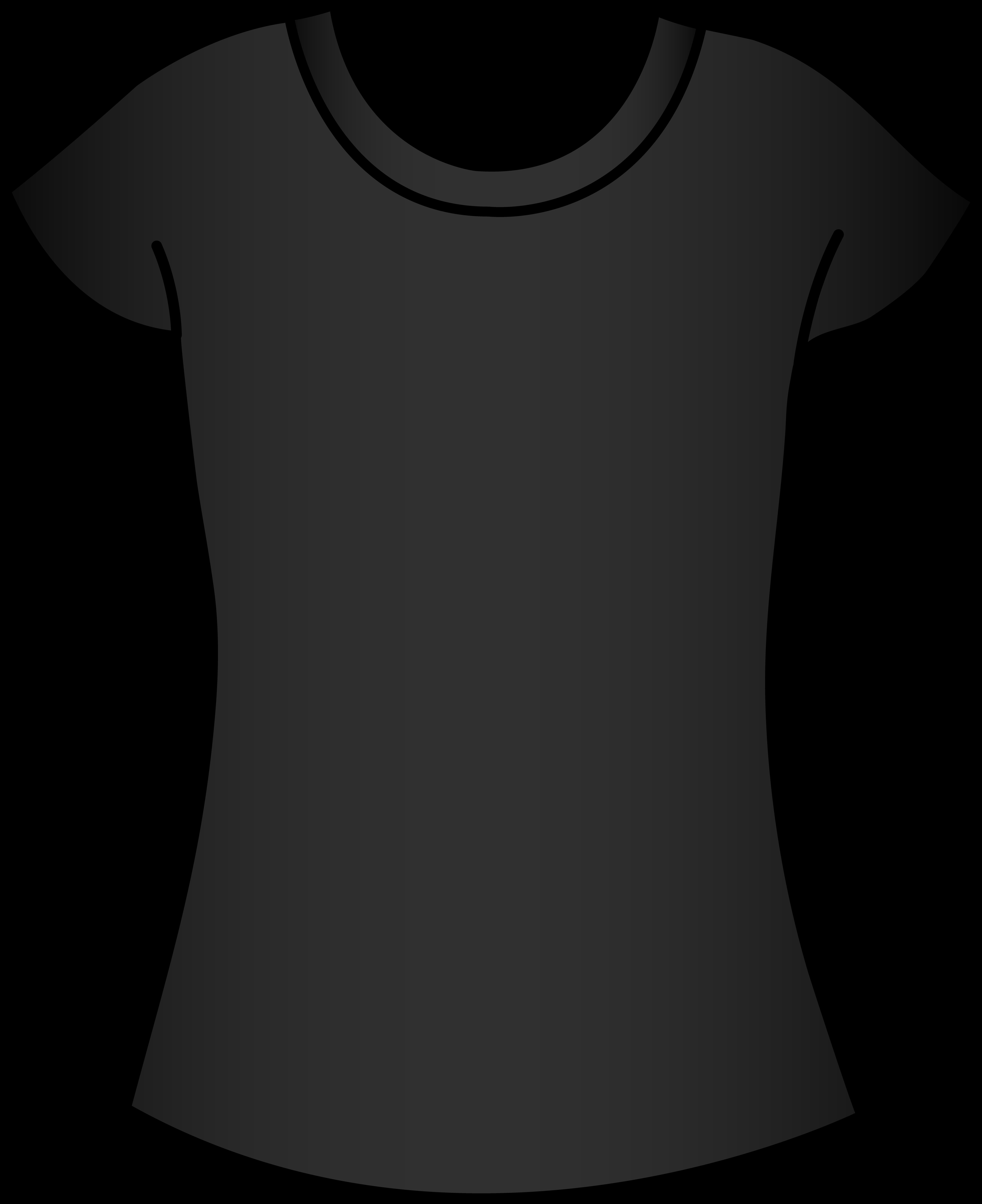5785x7096 Womens Black T Shirt Template