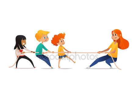 449x314 Woman Pulling Rope Stock Vectors, Royalty Free Woman Pulling Rope