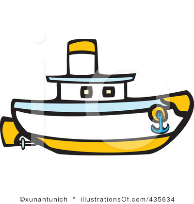 400x420 Sailboat clipart tug boat