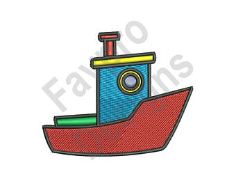 340x270 Tugboat embroidery Etsy