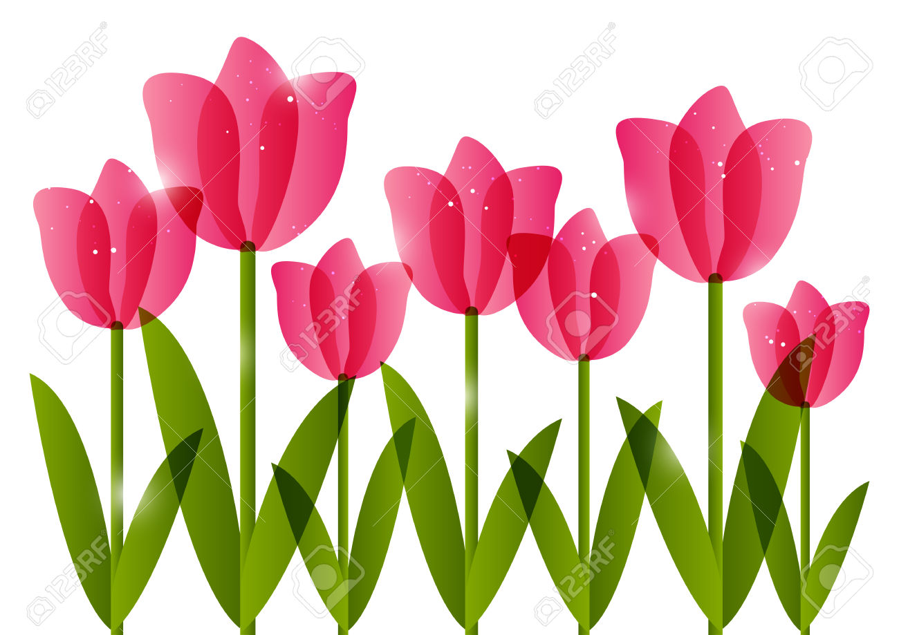 Tulip Border Clipart | Free download on ClipArtMag