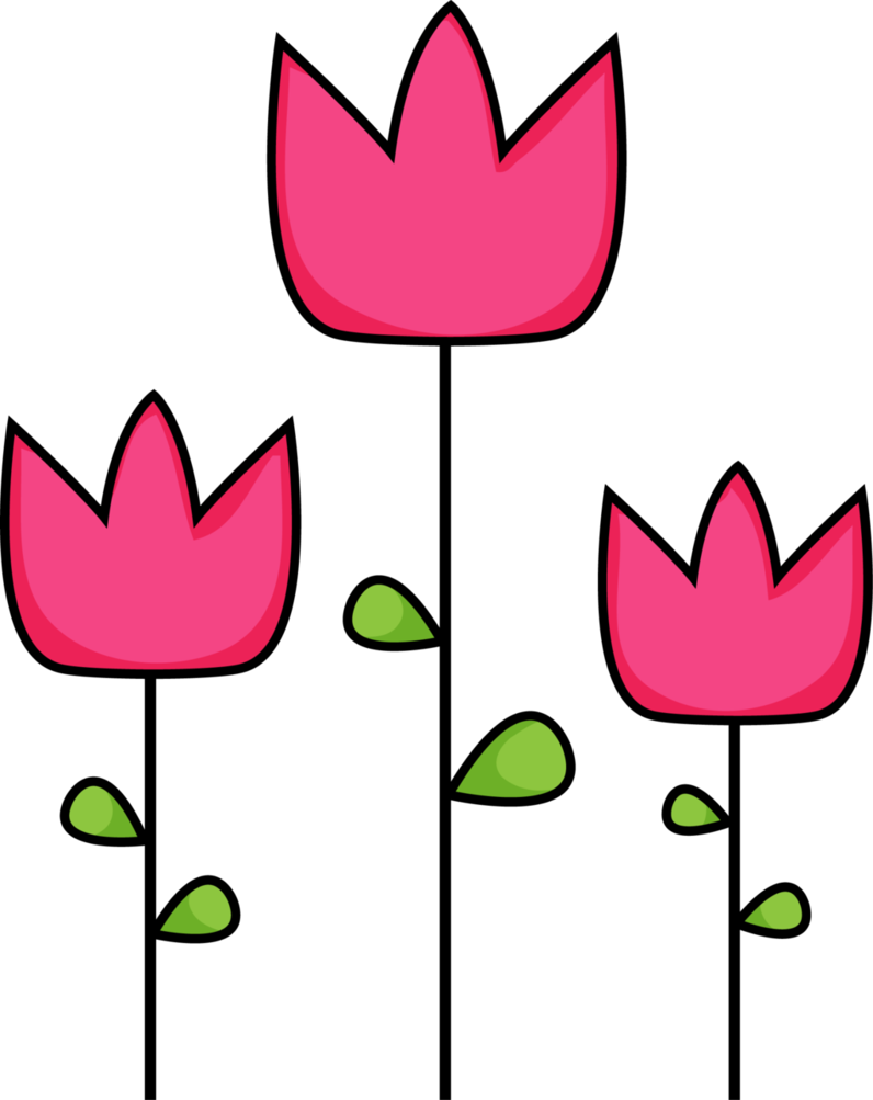 796x1003 Pink Tulip Clipart