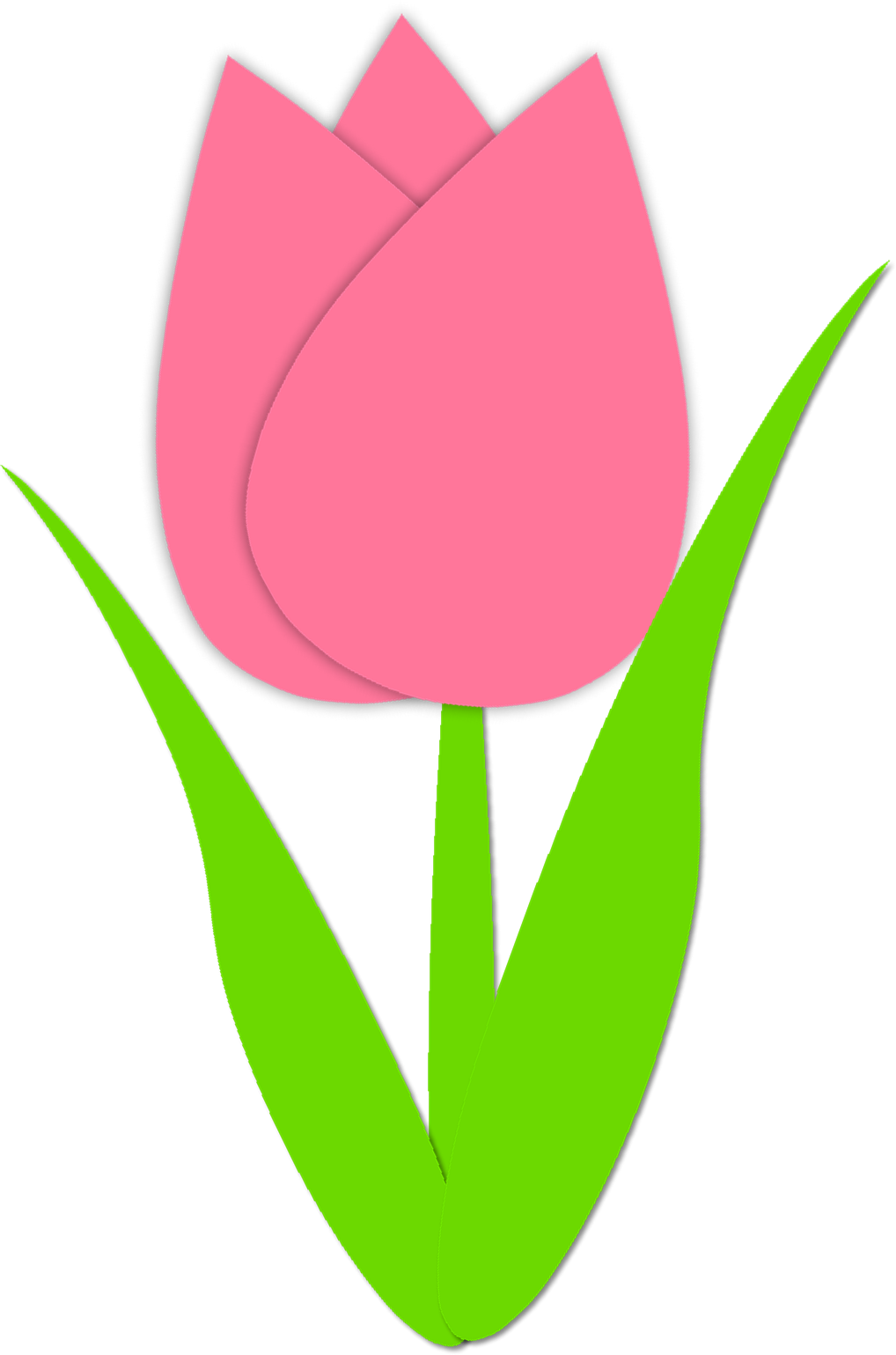 1018x1539 Pink and yellow tulip clip art clipart free download