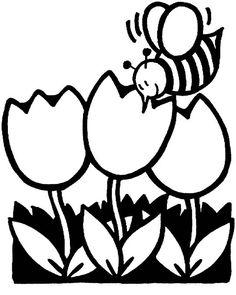 236x295 Black And White Tulip Clip Art