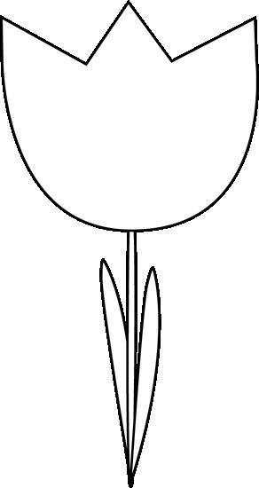 292x550 Black And White Tulip Clip Art