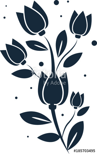 316x500 Beauty Spring Flower Design. Clip Art With Tulip. Stock Image