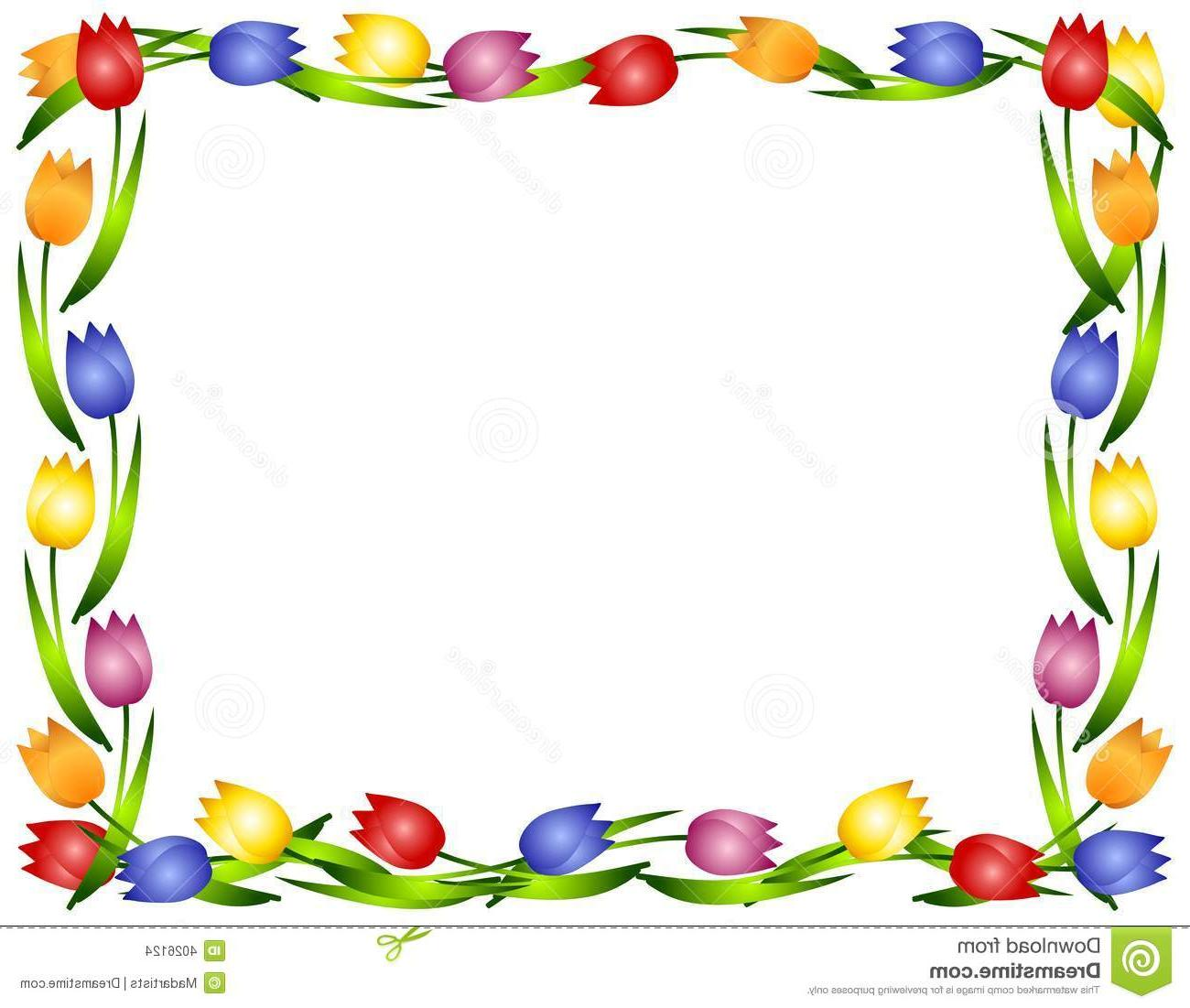 Tulip Clipart Border | Free download on ClipArtMag