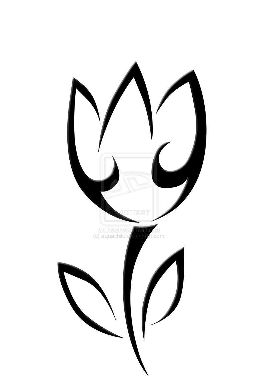 Tulip Outline