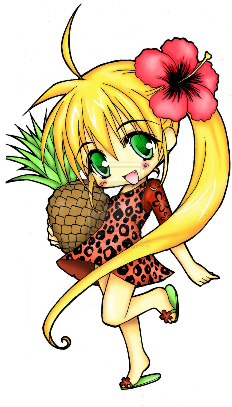 800x1399 Pineapple Chibi By Sofychu Clipart Panda