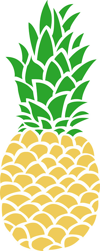 319x800 Pineapple Tumblr Stickers By Nicolasart Redbubble