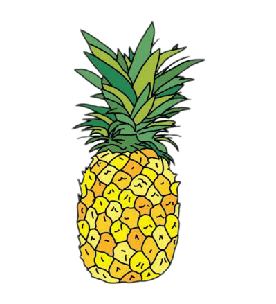 399x439 Popular And Trending Pineapple Stickers On Picsart