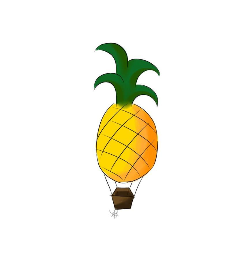 867x922 Unique Hot Air Balloon Drawing Tumblr Pineapple Ballon By