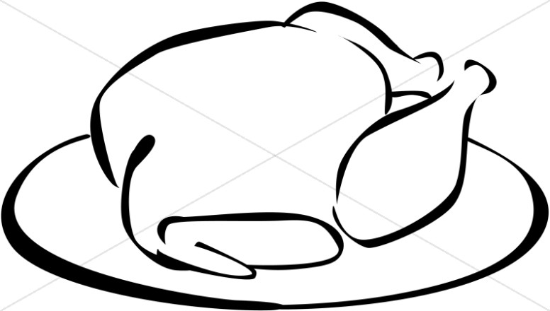 776x440 Black And White Turkey Clipart Thanksgiving Clipart