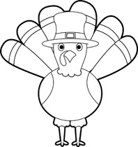 198x210 Turkey Thanksgiving Clipart Black And White