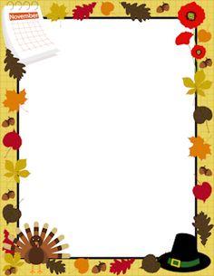 236x305 Printable Happy Thanksgiving Border. Use The Border In Microsoft