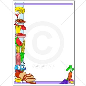 300x300 Thanksgiving Dinner Border Clip Art