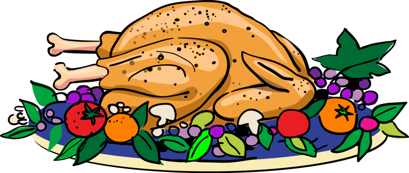 830x351 Best Cooked Turkey Clipart