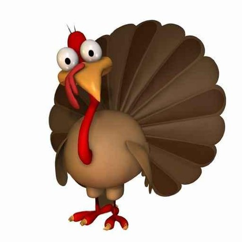 500x500 Cute Turkey Clipart