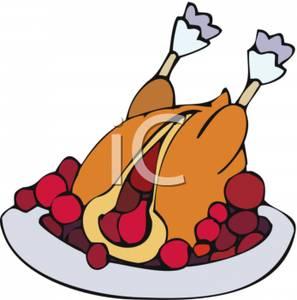 297x300 Art Image A Cranberry Stuffed Turkey