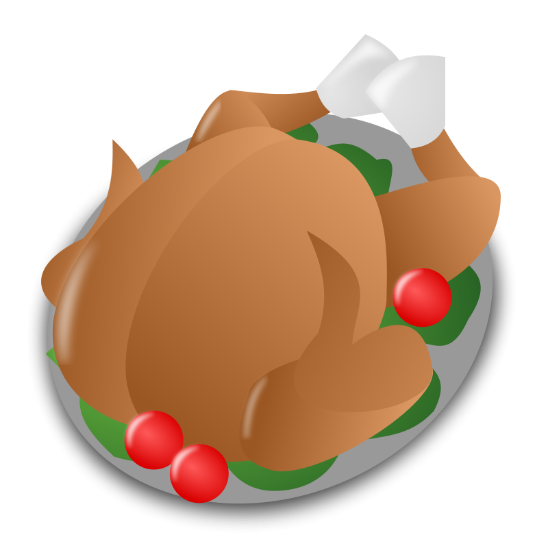 Turkey Dinner Clipart