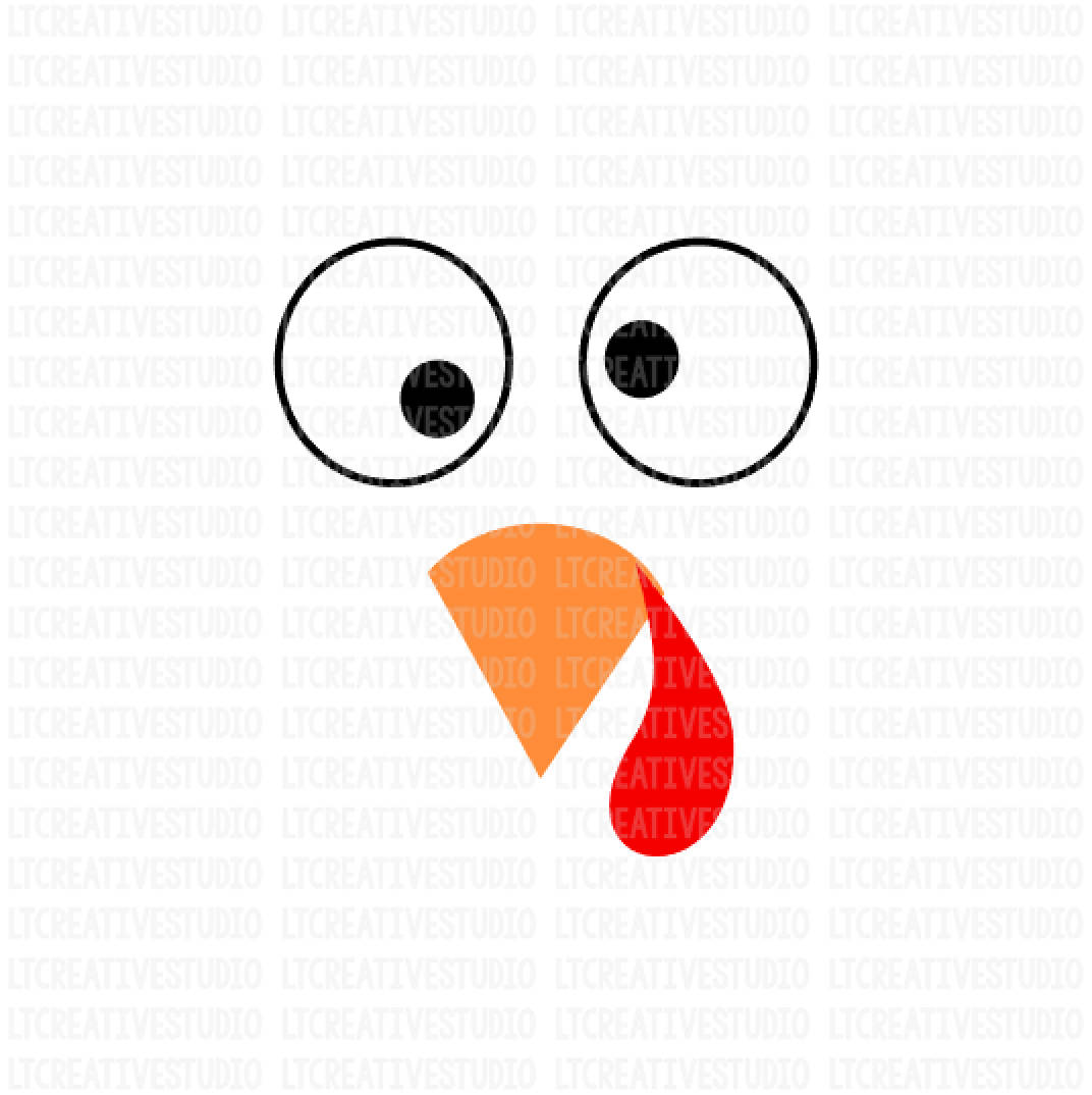 1072x1074 Turkey Svg Turkey Face Svg Thanksgiving Svg Thanksgiving