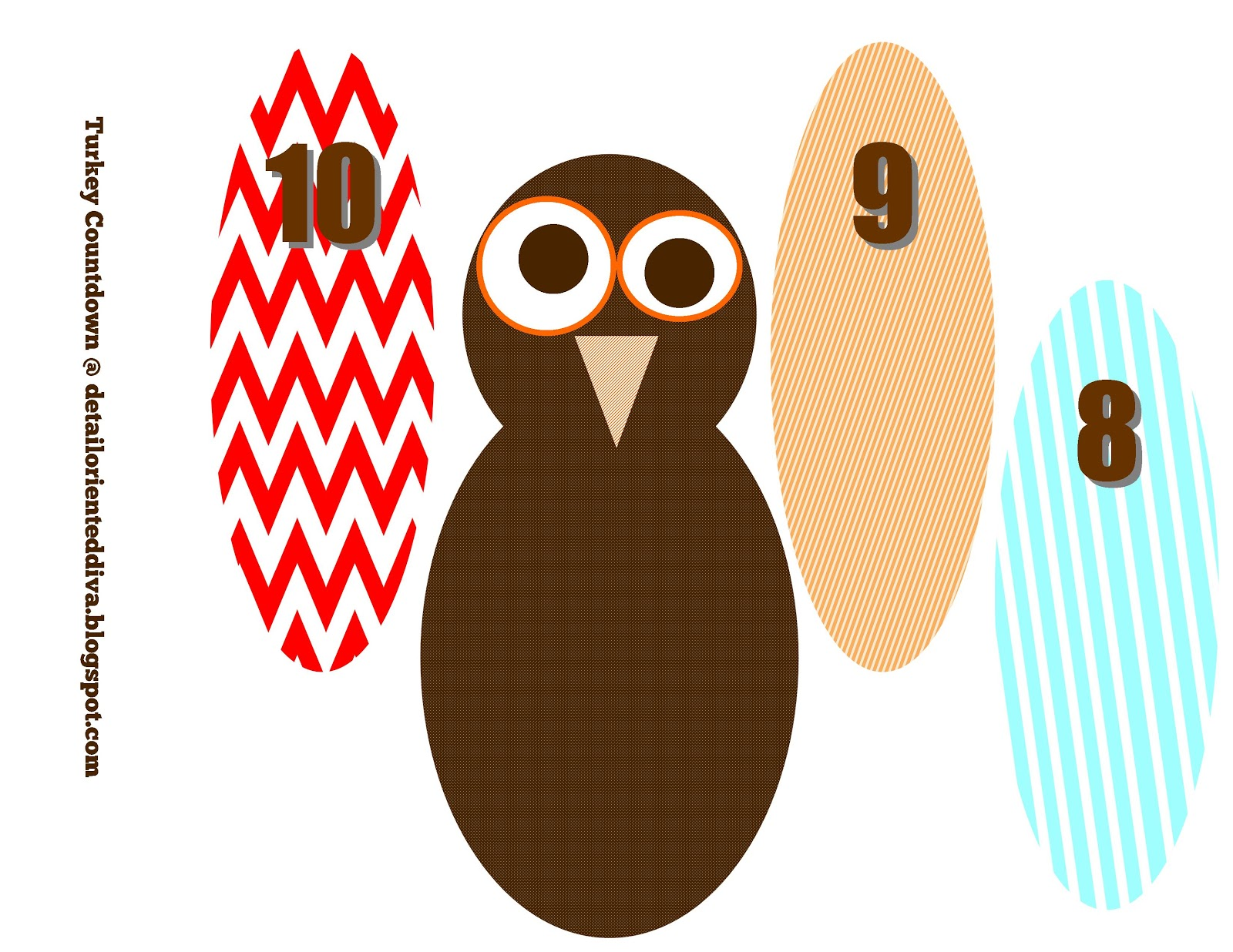 1600x1236 Turkey Feather Countdown Craft