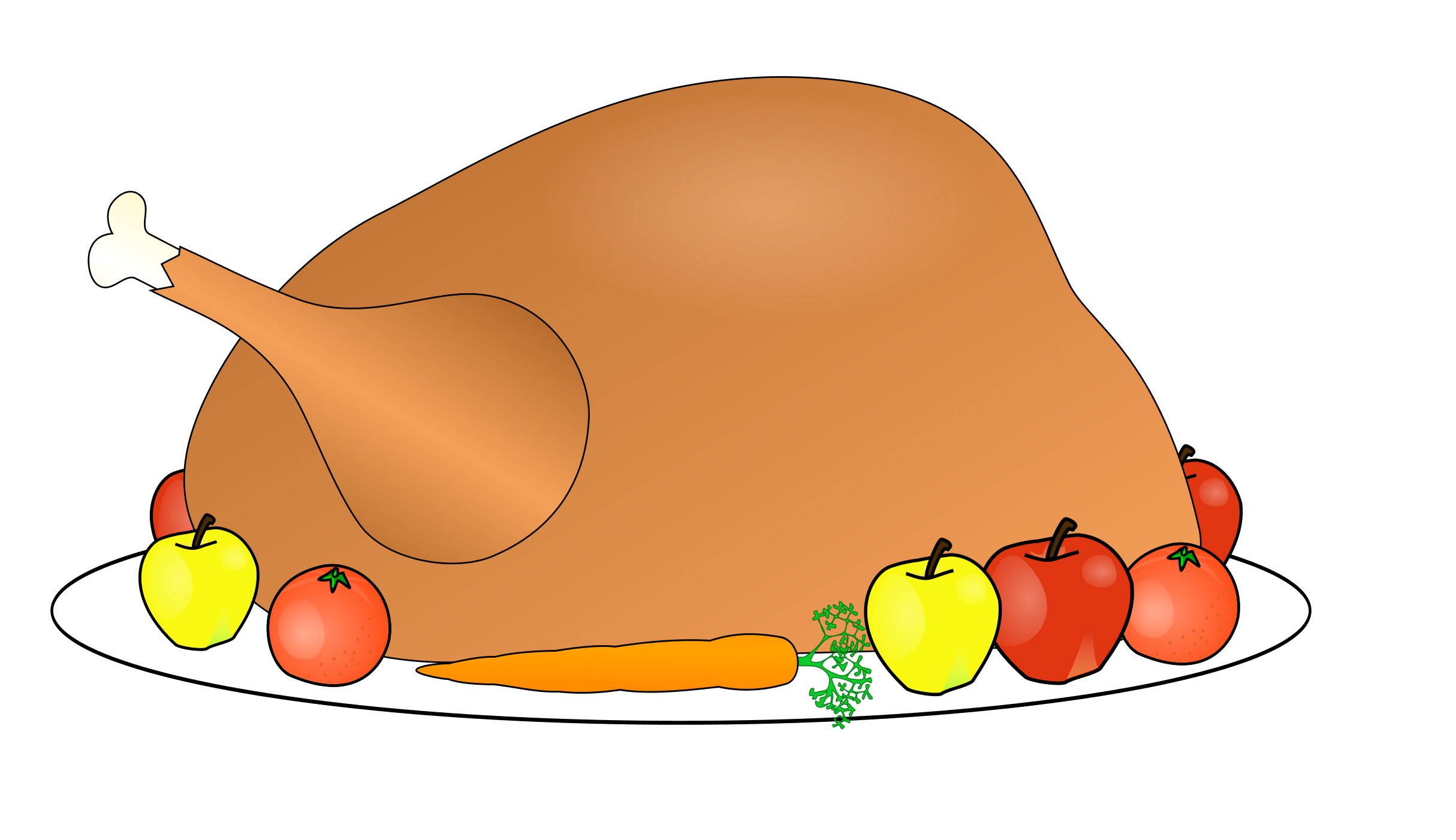 2429x1401 Cooked Turkey Leg Clipart