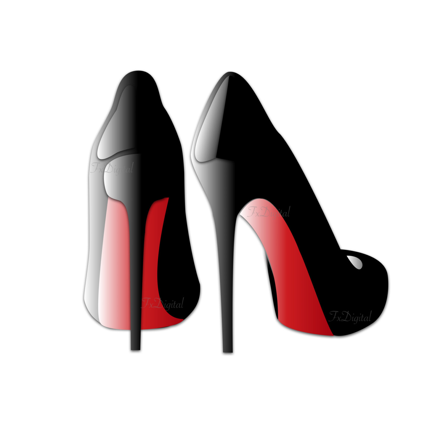 1500x1500 Red High Heels Clip Art Sexy High Heels Graphic Shoe Clip
