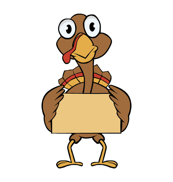 Turkey Line Art Clipart
