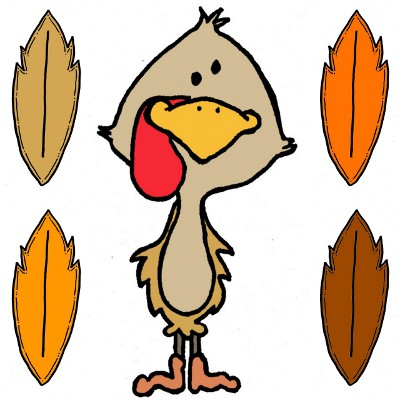 400x400 November Turkey Clip Art