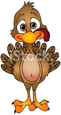 204x380 Cartoon Turkey Clip Art Clipart