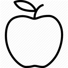 236x236 Apple Pattern. Use The Printable Outline For Crafts, Creating